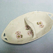 Vintage Estate China Porcelain Relish Dish with Handle