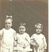 Antique Real Photo Postcard - 3 Children