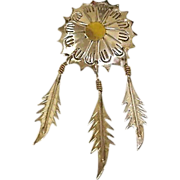 SALE Vintage TAXCO Jewelry - MEXICO Sterling Silver Brooch - 3 Dangling Sterling Feat