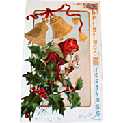 SALE Vintage Old World Santa Claus Embossed Postcard - Santa Post Card