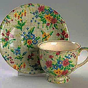 Vintage Royal Winton CHINTZ Tea Cup & Saucer – Queen Anne Pattern