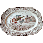 Vintage Johnson Brothers Flying Turkey Platter