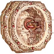 Vintage Johnson Brothers His Majesty 17 inch Turkey Platter