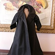 REDUCED Antique Wool Doll Coat with Capelet