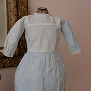 REDUCED Sweetest Antique Blue and White Schoolgirl Dress