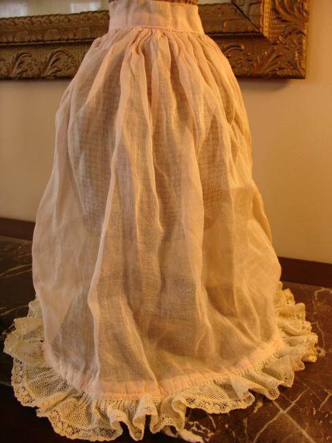 Beautiful Antique China Doll Petticoat Slip~Free US Shipping