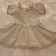 REDUCED Beautiful Antique Small Doll Dress