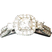 SALE Beautiful 10K White Gold and Diamond Lady's Ring