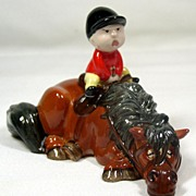 "SOLD Vintage Thelwell Pony Figurine ""Kick Start"" – Beswick of England, 1982"
