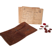 SALE War Rations Pouch Books Tokens Stamps Coins