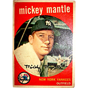 SOLD 1959 Topps Mickey Mantle #10 Baseball Card