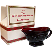 REDUCED Avon Cape Cod Footed Sauce Boat with Box