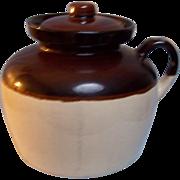 SALE USA Bean Pot Stoneware Crock Single Handle with Lid