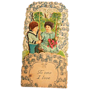 SOLD Valentine Card Stand-up German Embossed