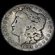 SALE 1881 S Morgan Silver Dollar