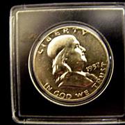 SALE Franklin Half Dollar 1957