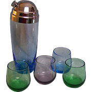 SALE Cocktail Shaker with Tumblers
