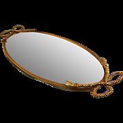 SALE Globe Vanity Mirror  24 kt Gold Plated