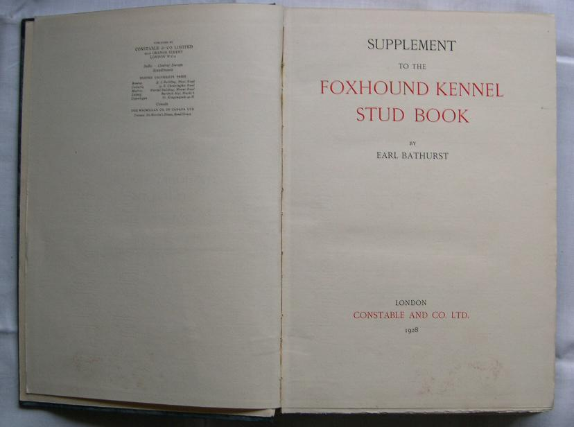 English Foxhound Kennel Stud Book 1928
