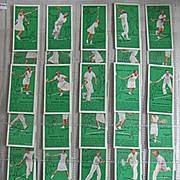 Part Set Vintage Players Cigarette Cards Tennis 1936