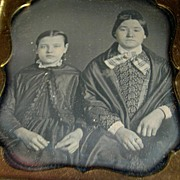 American Daguerreotype Mother and Daughter by Appleby
