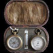 Mid 19th Century Pocket Barometer/Compass Compendium