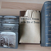 SOLD Boxed Set Underwood Stereoviews Life of Christ with Book and Maps
