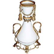 Antique  Baccarat White Opaline Vase