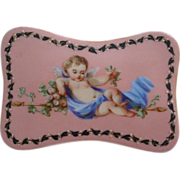 "SALE Very Fine Palais Royal Opaline Scent Casket ""Adorable Putti"""