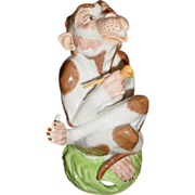 Sassy Dresden Monkey Smoking Pipe