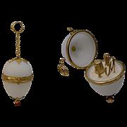 SALE Palais Royal Jeweled Opaline Etui Egg