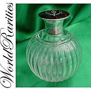 SOLD Gorgeous  Antique Crystal and Tortoise Scent Bottle