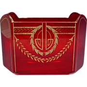 """SALE Exquisite Antique French Red Letter Holder  """"REGAL RED"""""""