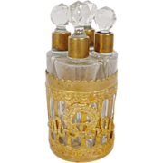 """SOLD Exquisite Antique Perfume Scent Caddy  """"Empire Style"""""""