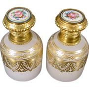 "SALE Exquisite Palais Royal  Opaline Sent Bottles "" AWESOME PAIR """