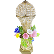 """SALE Czech Glass Flower Lamp""""RARE 1920"""""""