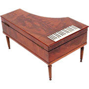 Antique French Piano Etui Sewing Box