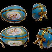"SALE Antique French Sevres Style Porcelain Casket ""GRANDEST"""