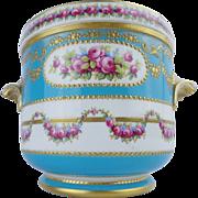 """SALE Antique French Sevres Style Porcelain Cachepot """"MAGNIFICENT"""""""