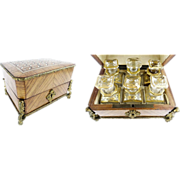 """Antique French Kingwood Perfume Casket """"Magnificent Inlay"""""""