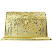 """SALE 1880 French Jeweled Dore Bronze Stationary Letter Box """"GRANDEST"""""""