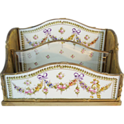"""SOLD LAYAWAY. Antique French Porcelain and  Letter Box """"Absolutely EXQUISITE"""""""