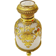 """SALE Grand Tour White Opaline Scent"""" Hand Painted Miniature Top"""""""