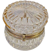 SALE Antique French Cut Crystal Hinged Box.
