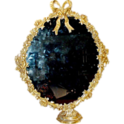 """SALE Magnificent French Bronze Mirror on the Stand """"BOW TOP"""""""