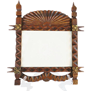 SALE Antique Oak Picture Frame