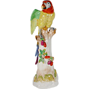 "SALE 24"" Dresden Porcelain Parrot "" BIG '"