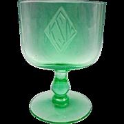 SALE Beautiful Green Crystal Cardholder