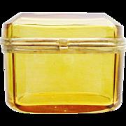 SALE Bohemian Antique Amber Hinged Box