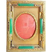 """SALE Antique Jeweled Table top Frame """"BEAUTIFUL"""""""